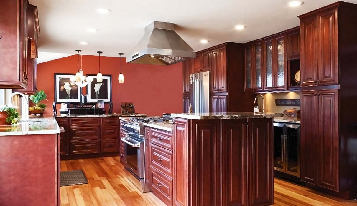 Quality cabinets nj mahongeny maple for Quality kitchen cabinets
